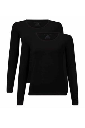 T-shirt Lara met bamboe (set van 2) zwart