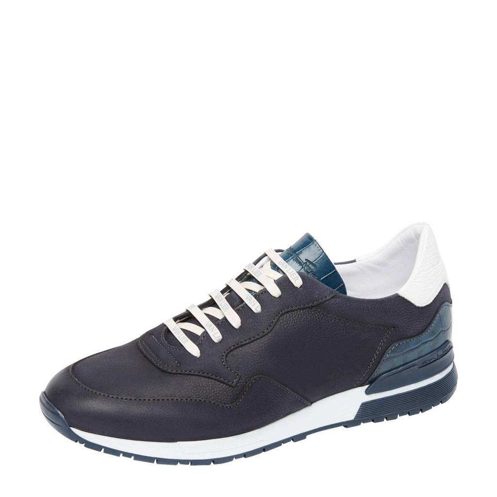 Van Lier Chavar  nubuck sneakers blauw, Blauw