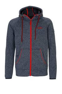 Kjelvik outdoor vest grijs/rood, Grijs/rood