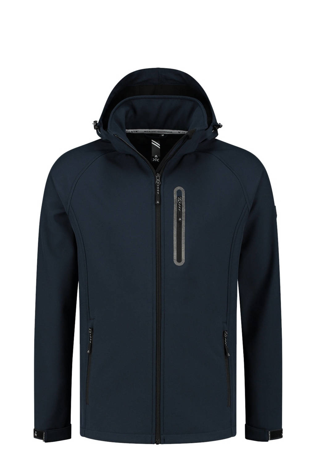 Kjelvik Plus Size outdoor jas Kevan donkerblauw, Donkerblauw