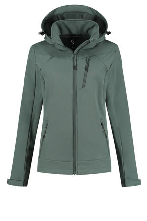 outdoor softshell jas Abella groen