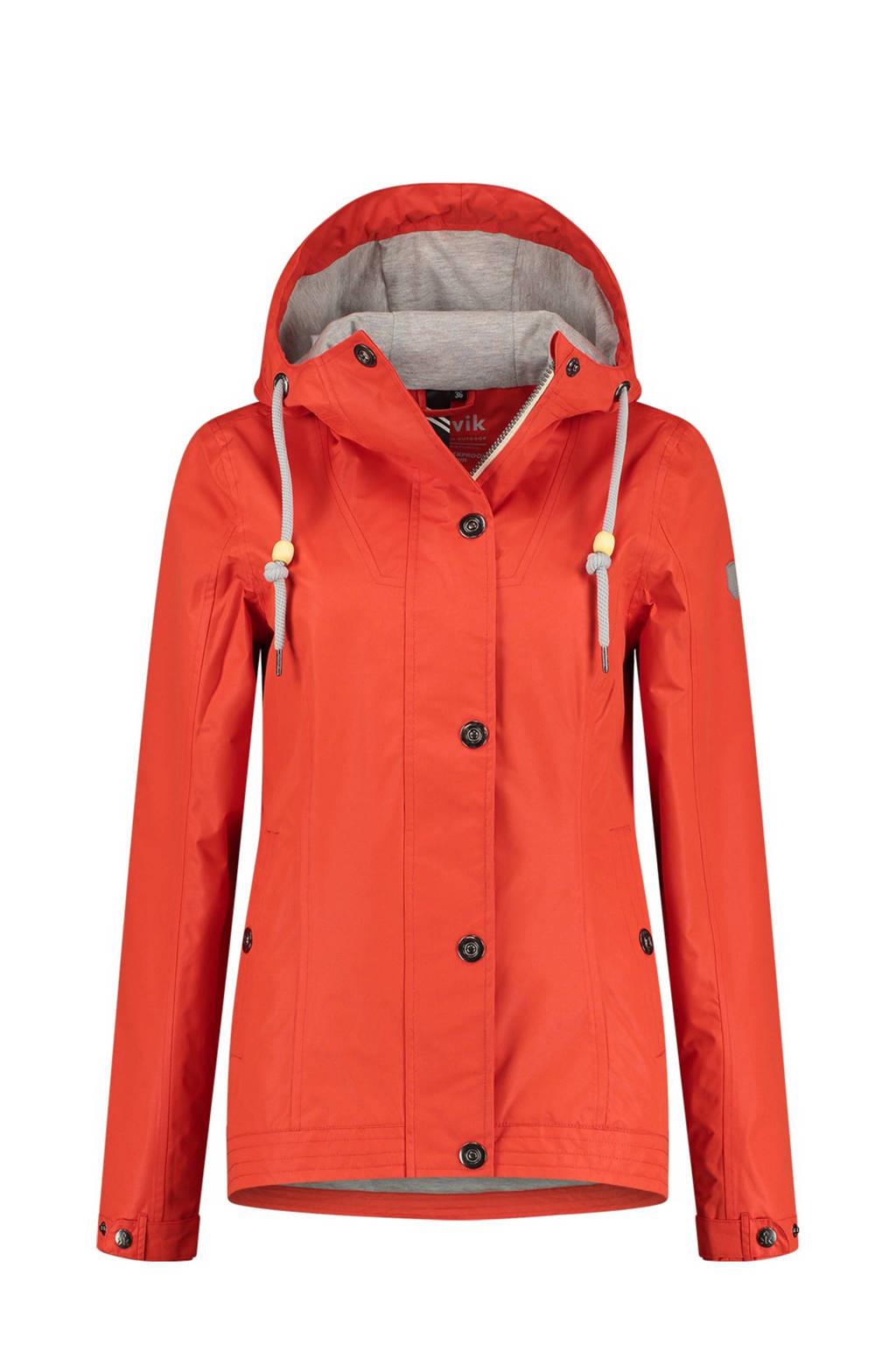 Kjelvik outdoor jas Seana oranje, Oranje