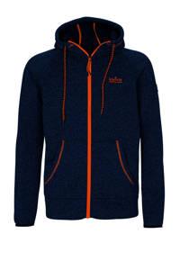 Kjelvik outdoor vest donkerblauw/oranje, Donkerblauw/oranje