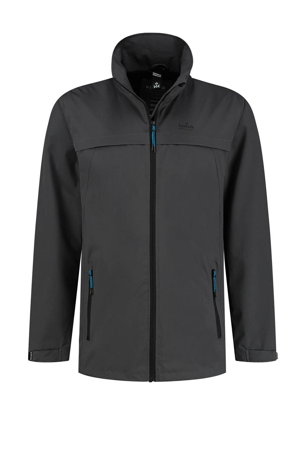 Kjelvik Plus Size outdoor jas Mason antraciet, Antraciet