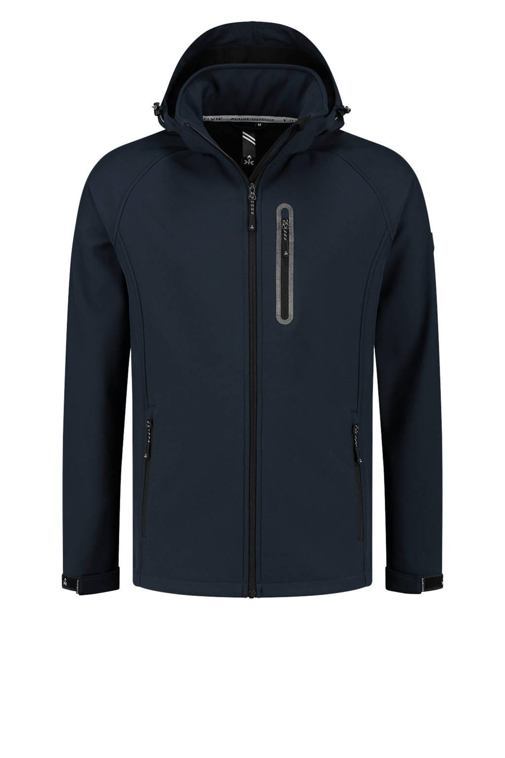Kjelvik outdoor jas Kevan donkerblauw, Donkerblauw