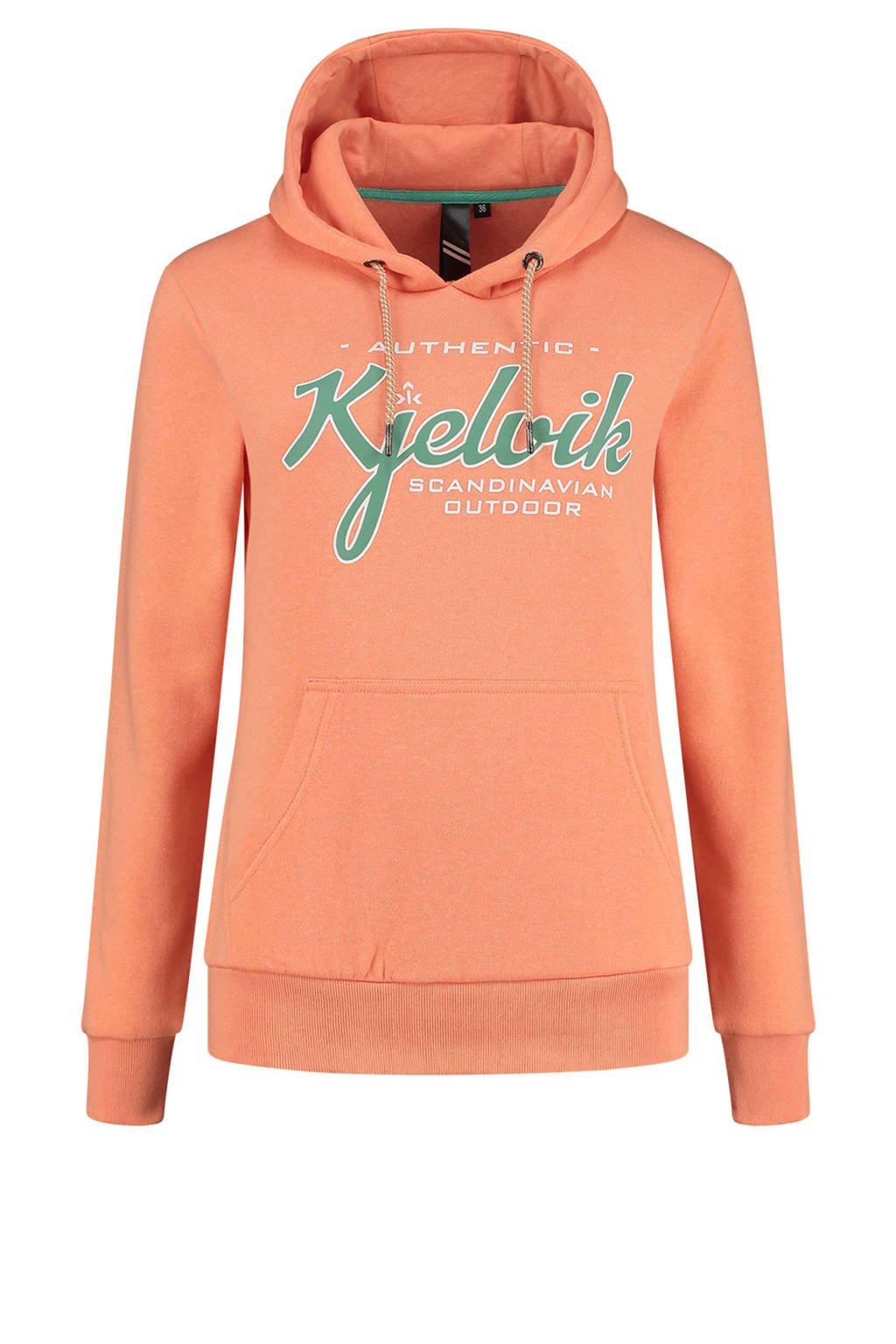 Kjelvik Plus Size outdoor hoodie Babette oranje, Oranje