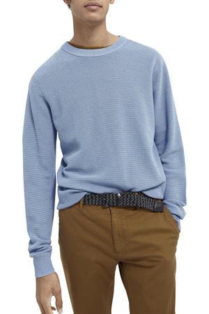 gebreide trui blauw