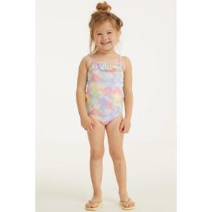 baby girl badpak met pastelprint roze/lila