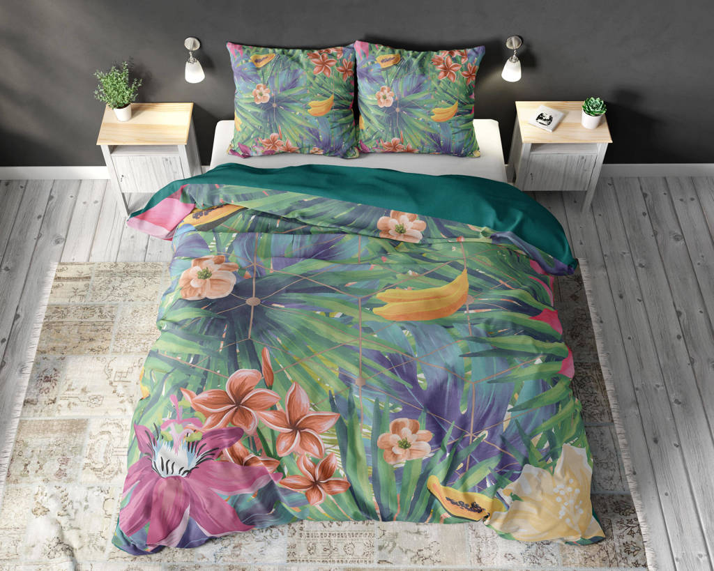 Sleeptime Polyester-katoen dekbedovertrek lits-jumeaux, Lits-jumeaux (240 cm breed)
