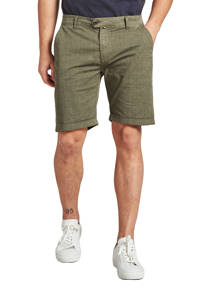 Dstrezzed regular fit chino short met all over print army, Army