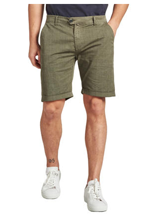 regular fit chino short met all over print army