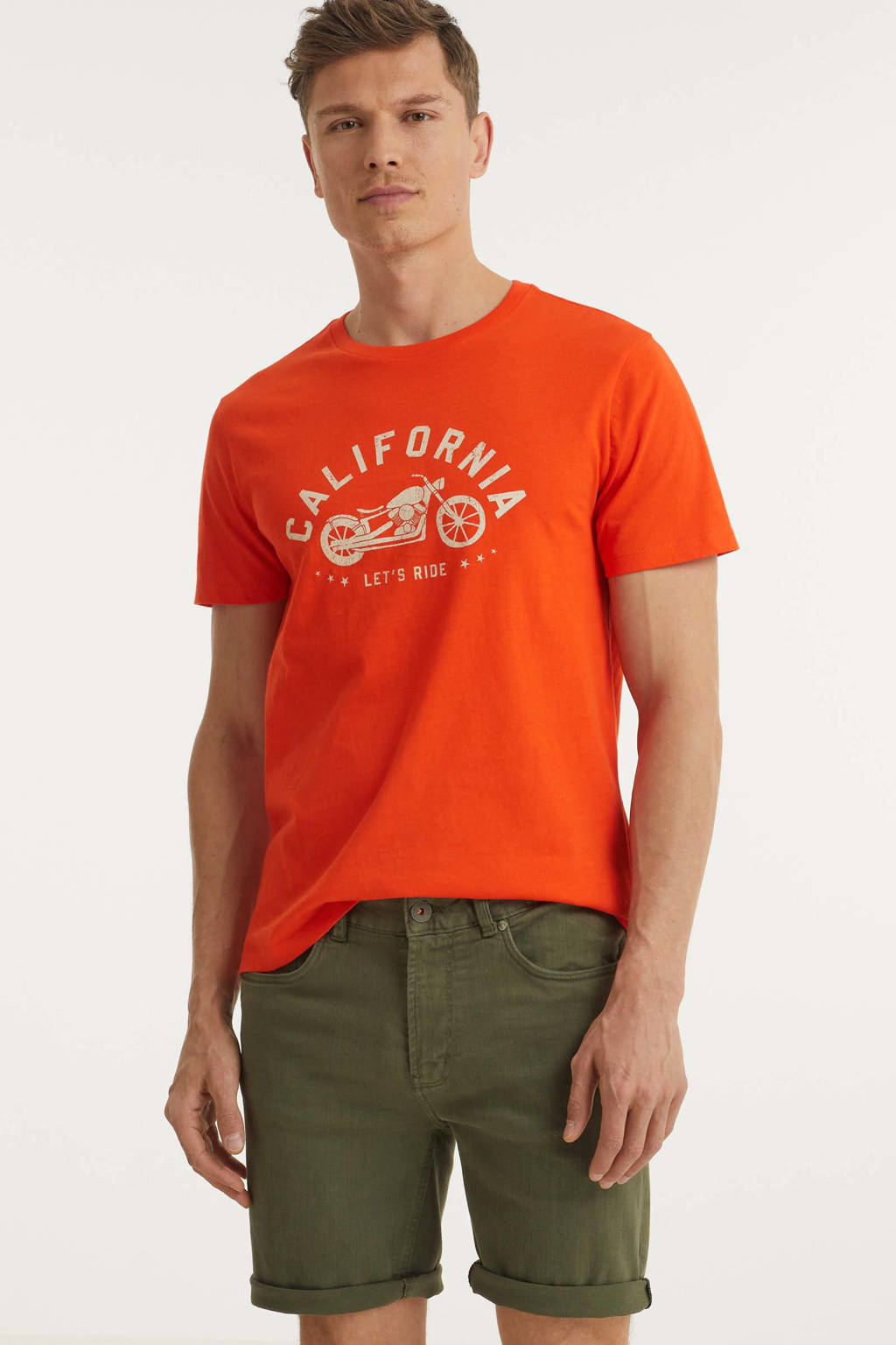 Dstrezzed slim fit jeans short Micheal J. groen, Groen