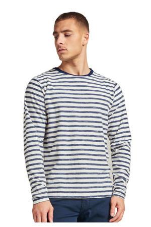 gestreepte sweater marine/wit