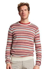 Dstrezzed gestreepte trui rood/beige, Rood/beige