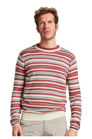gestreepte trui rood/beige