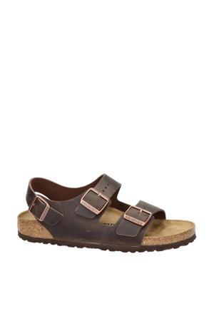 Milano  nubuck sandalen bruin