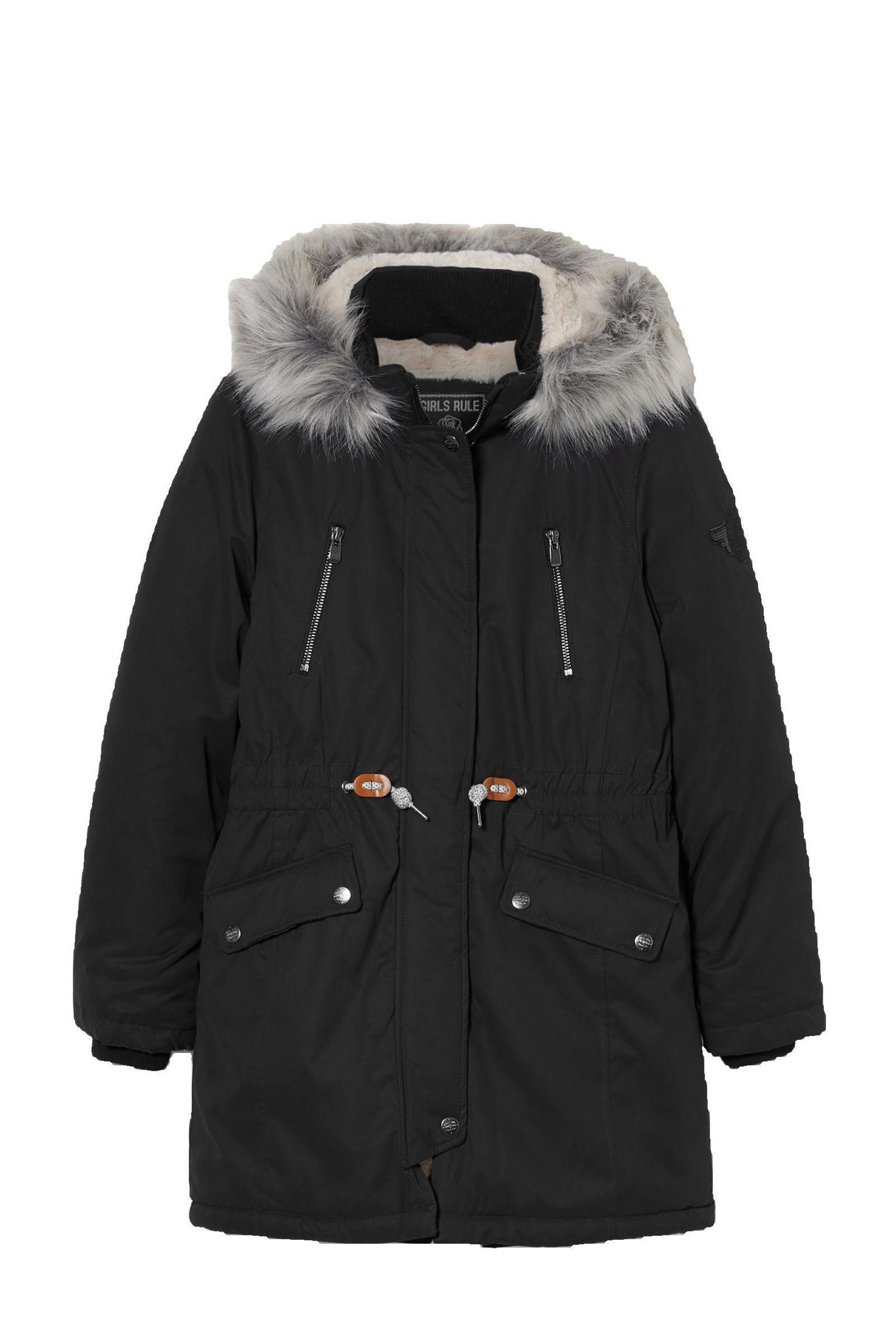 C&A Here & There gemêleerde jas grijs | wehkamp