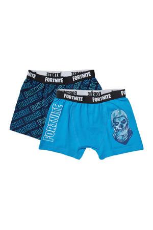 boxershorts - set van 2 blauw/wit