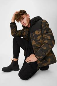 C&A Canda  jas met camouflageprint kaki, Kaki