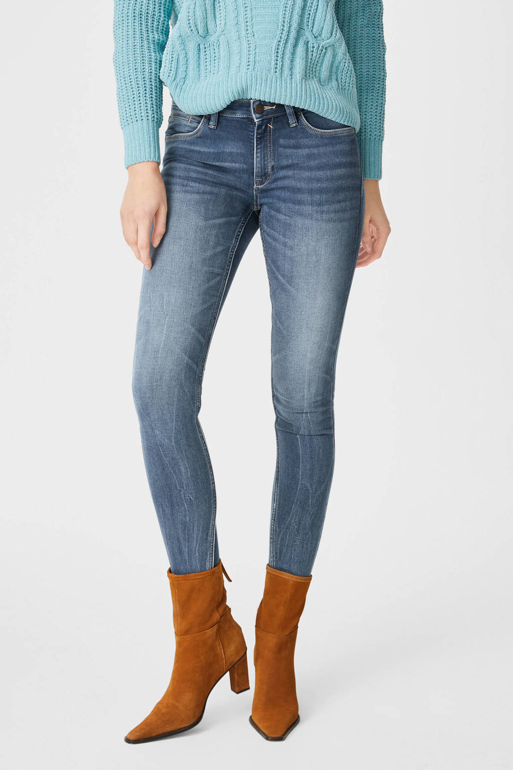 C&A The Denim low waist skinny jeans light denim stonewashed, Light denim stonewashed