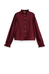 Scotch & Soda blouse donkerrood, Donkerrood