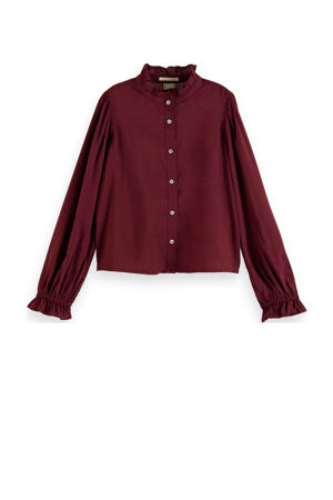 blouse donkerrood