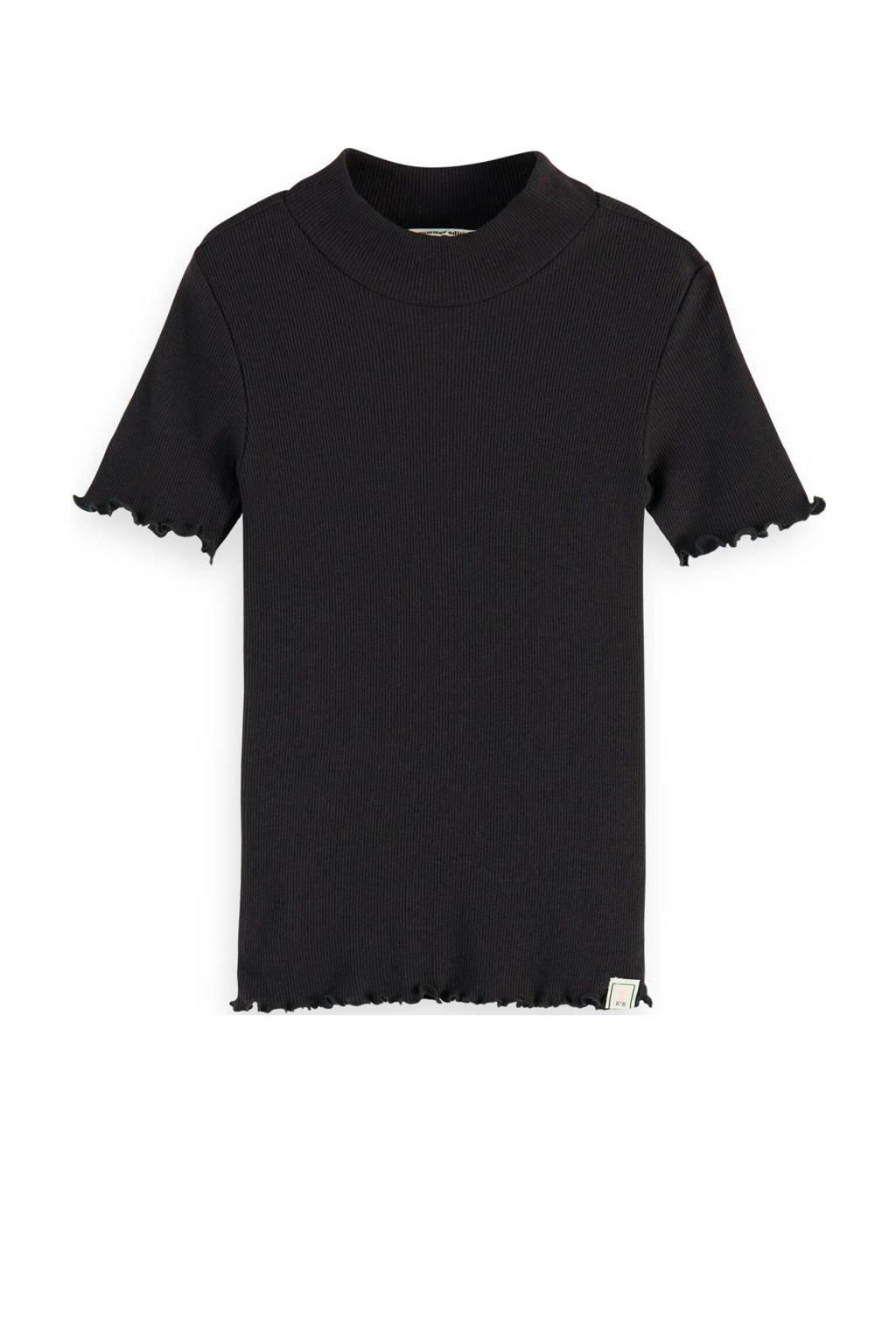 Scotch & Soda T-shirt zwart, Zwart
