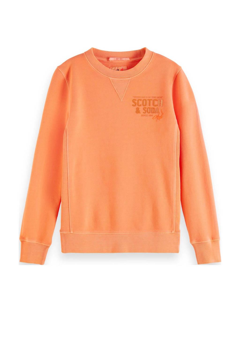 Scotch & Soda sweater met tekst oranje, Oranje