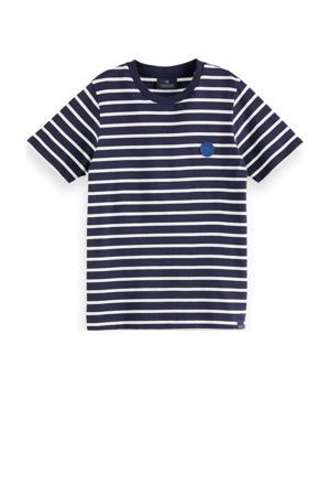 gestreept T-shirt van biologisch katoen donkerblauw/wit
