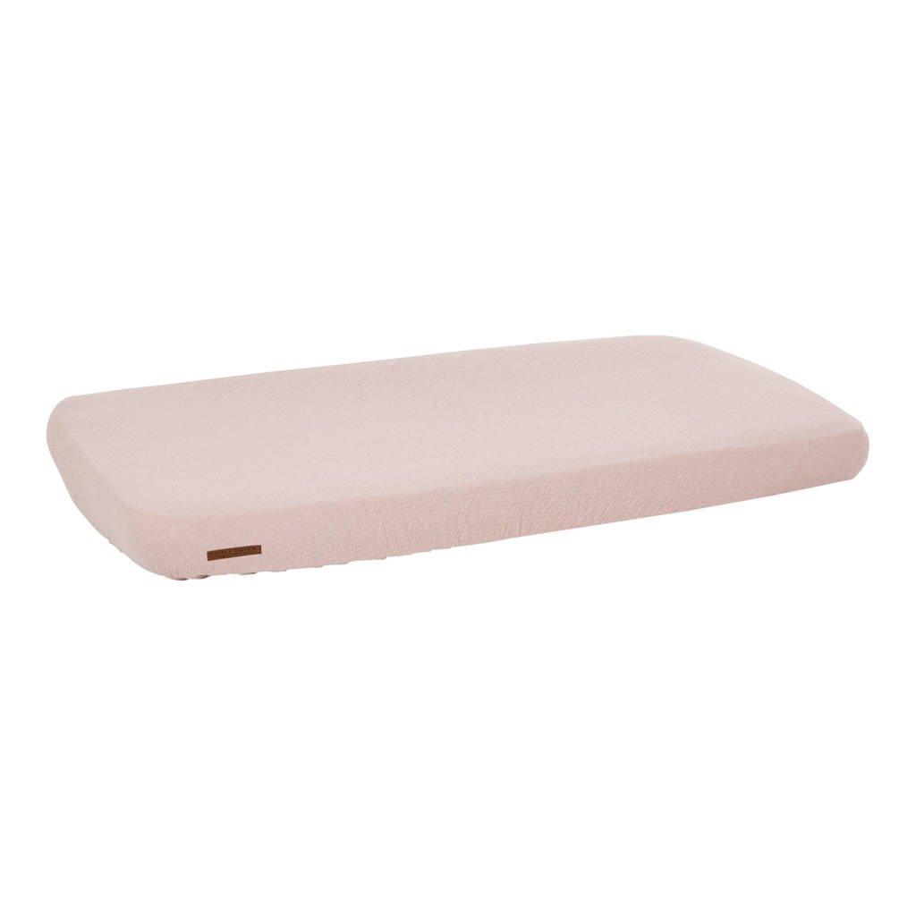 Little Dutch katoenen ledikant hoeslaken 60x120 cm Pure Pink, Roze