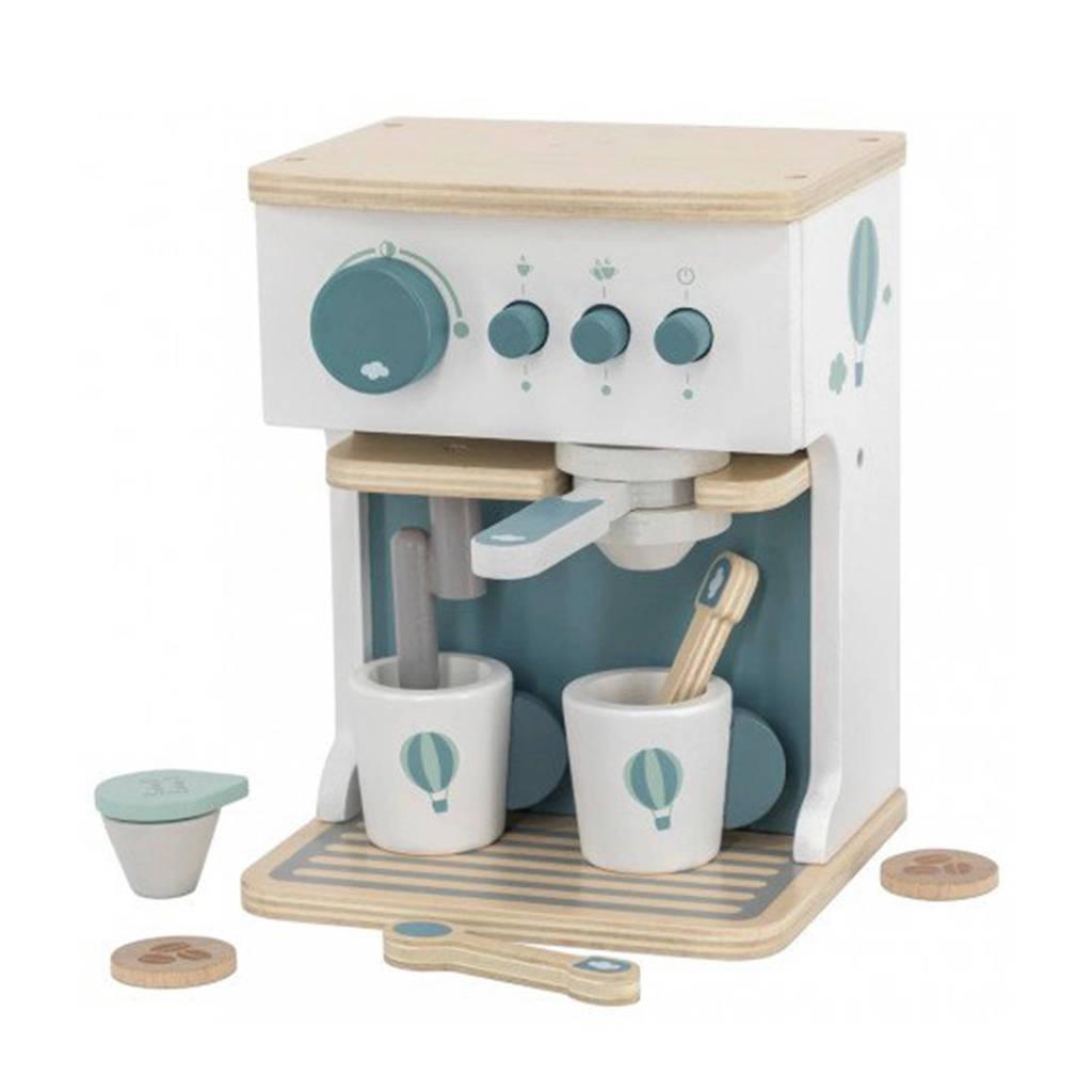 Label Label Wood Espresso machine met accessoires mint