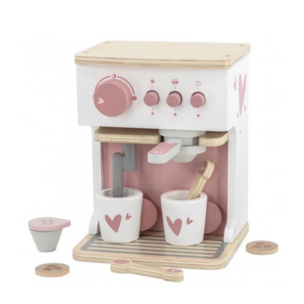 Label Label Wood Espresso machine met accessoires roze
