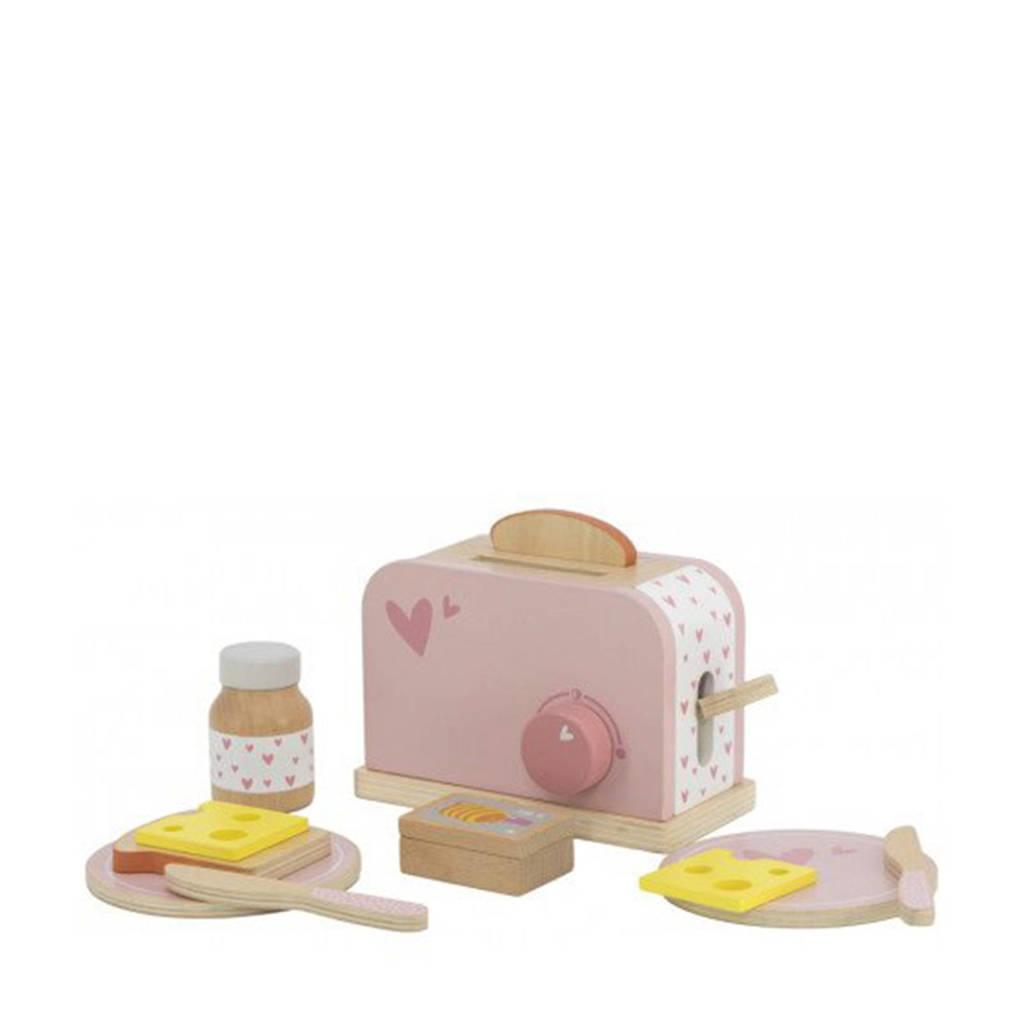 Label Label Wood Toaster met accessoires roze
