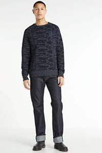 PME Legend gemêleerde trui donkerblauw, Donkerblauw