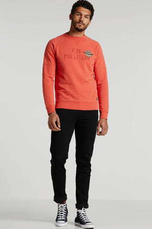 sweater met printopdruk koraal
