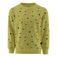 KIDDO sweater Olaf met all over print mosterdgeel, Mosterdgeel
