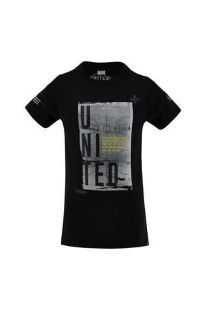 T-shirt Rogier met printopdruk antraciet