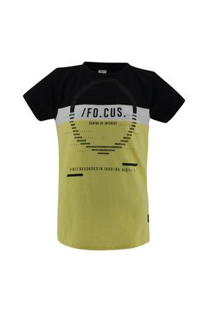 T-shirt Samson zwart/geel/wit