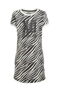 KIDDO jurk Alexis met zebraprint zwart/wit, Zwart/wit