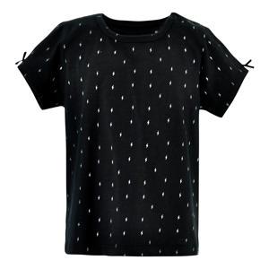T-shirt Aster met all over print zwart