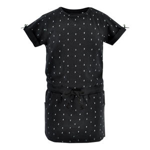 jurk Arianne met all over print zwart