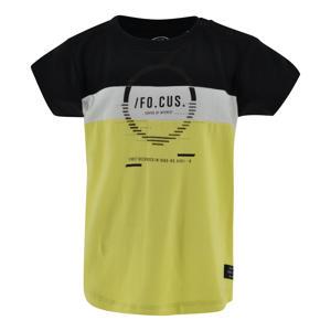 T-shirt Riley geel/zwart/wit