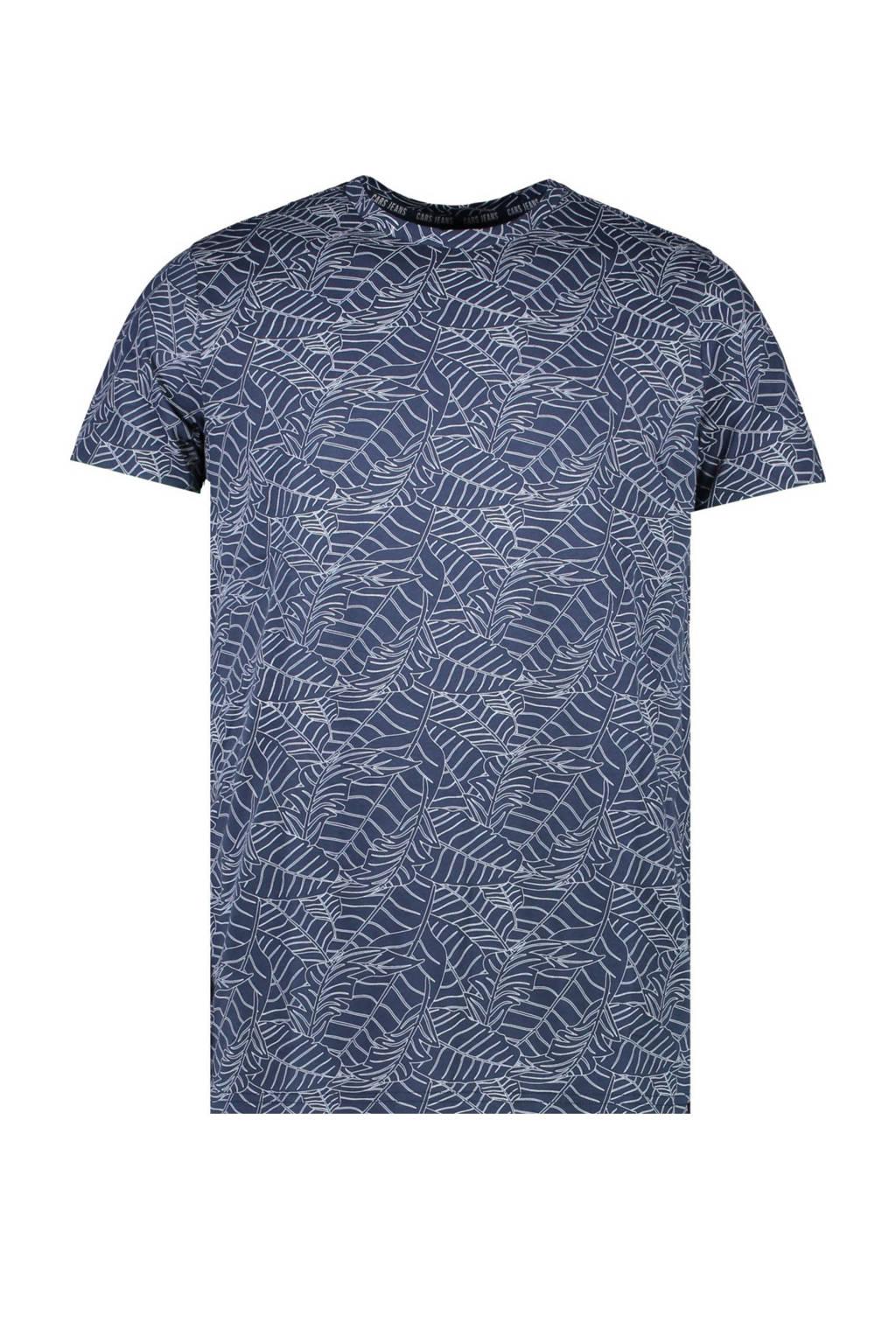 Cars T-shirt Kahu met all over print donkerblauw, Donkerblauw