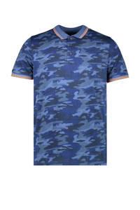 Cars regular fit polo Bascit met camouflageprint blauw, Blauw