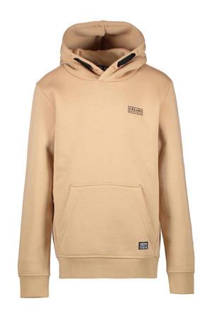hoodie met printopdruk beige