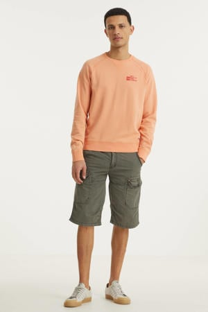 regular fit cargo bermuda Random antraciet