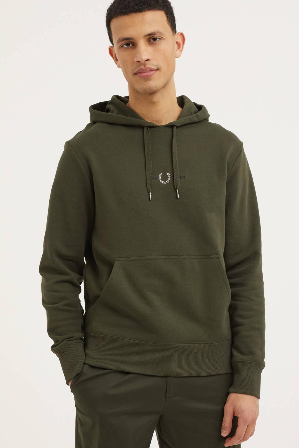 Fred Perry hoodie olijfgroen, Olijfgroen