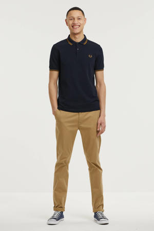 regular fit polo Twin Tipped donkerblauw