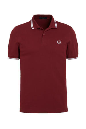 regular fit polo Twin Tipped donkerrood