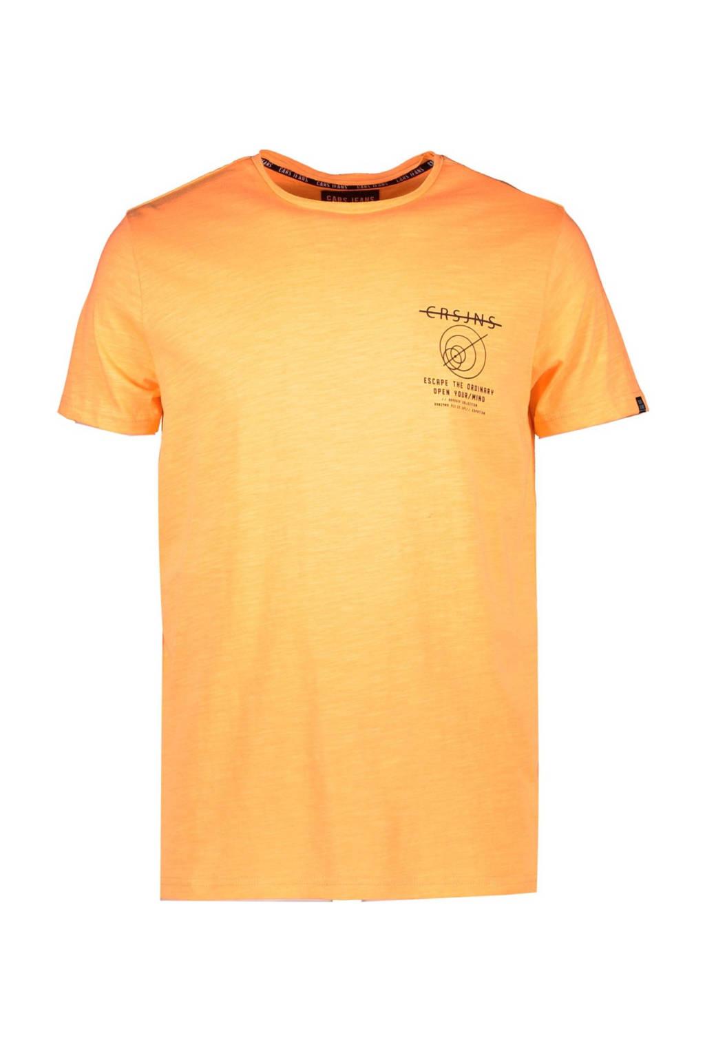 Cars T-shirt Ontario met logo oranje, Oranje